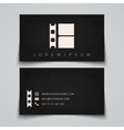 Business card template Film strip concept logo vector image