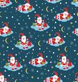 Christmas seamless pattern with Santa vector image