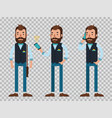 fashionable young man speak on smartphone flat vector image