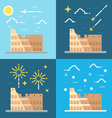 Flat design of Colosseum Italy vector image