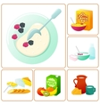 fresh and healthy breakfast vector image