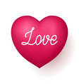love red heart vector image
