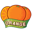 orange label design vector image