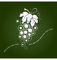 Paper grapes vector image