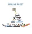 Ship Concept Flat vector image