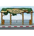 A zoo entrance vector image