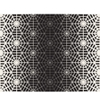 Seamless Black And White Geometric Line vector image