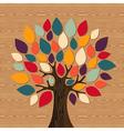 Global Diversity tree vector image