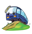 bus spring vector image