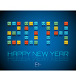 2014 Happy New Year background vector image vector image