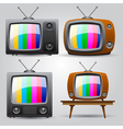set of four TV vector image
