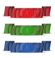 Horizontal ribbon set vector image