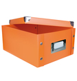 Orange storage box vector image vector image