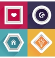 abstract frames with copy space vector image