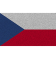 Flags Czech Republic on denim texture vector image
