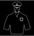 police white color path icon vector image
