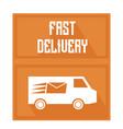 quick delivery logo cars with painted burning vector image