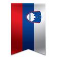 Ribbon banner - slovenian flag vector image