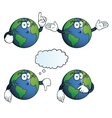 Thinking Earth globe set vector image