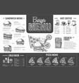 vintage burger menu design fast food menu vector image