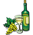 white dry wine vector image