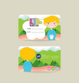 Front And Back VIP Kids Member Card Template vector image