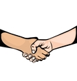hand shake symbol icon vector image
