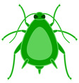 Greenfly insect icon vector image
