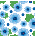 flower seamless blue vector image vector image
