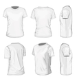 Mens white short sleeve t-shirt design templates vector image