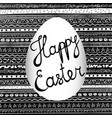 handwritten happy easter inscription on blackboard vector image