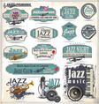 Jazz music stamps and labels vector image
