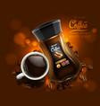 coffee advertising design vector image vector image