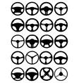 Steering wheel silhouettes vector image