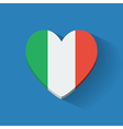 Heart-shaped icon with flag of Italy vector image