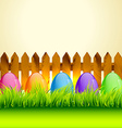colorful easter eggs vector image