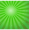 abstract green ray background vector image