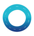 blue silhouette vehicle tire of rubber wheel vector image