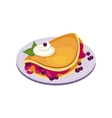 Blueberry Pancake Breakfast Food Element Isolated vector image