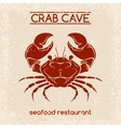Crab seafood emblem template vector image