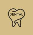 dentist logo vector image