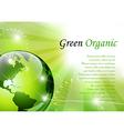 Elegant green background vector image