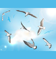 Flock of Seagulls vector image