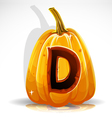 Halloween Pumpkin D vector image