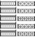 metal lattices vector image