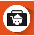 sign mining icon tool design vector image