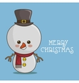 snowman character icon vector image