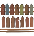 Wooden fence cartoon vector image