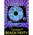 Dont stop the music Design for beach party placard vector image vector image