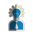 Business executive profile vector image